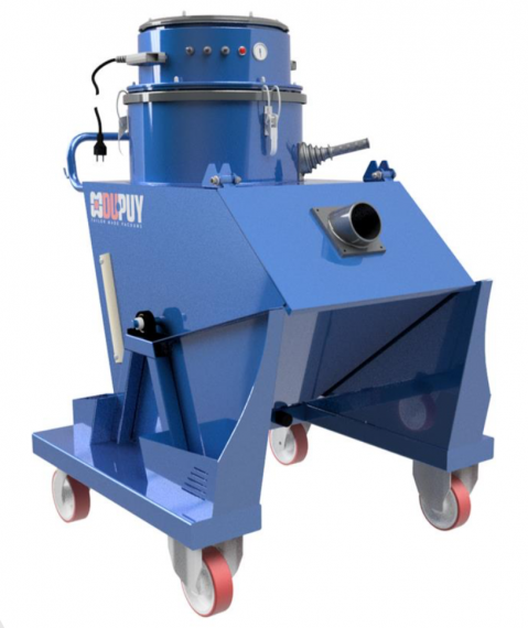 CHIPVAC 200 single phase Industrial vacuum cleaner for dust, liquid and solid material