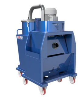 CHIPVAC 400 continuos duty patented industrial vacuum cleaner for dust, liquid and solid material